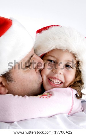 father loving his little daughter - stock photo