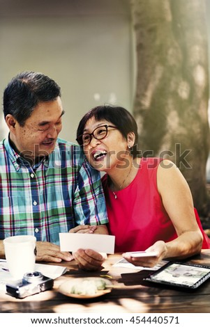 Father Mother Husband Wife Bonding Cafe Sweet Concept - stock photo
