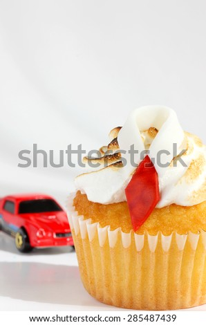 Father's day cupcake - stock photo