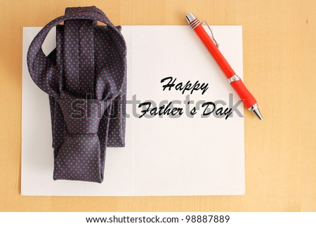 Father's Day Greetings - stock photo