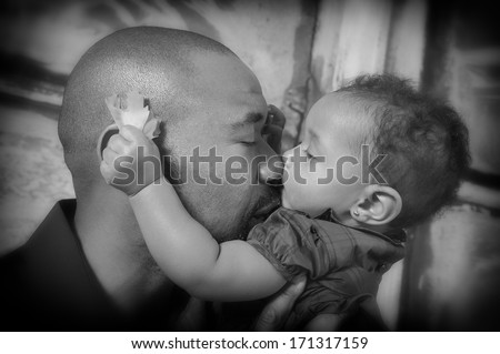 Father's love - stock photo