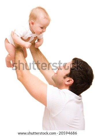 Father's love. Cute baby with father.