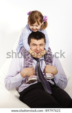 father with daughter - stock photo
