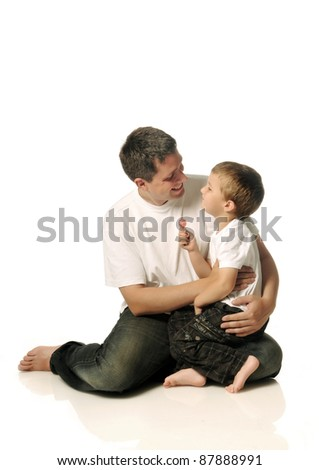 Father with his child - stock photo