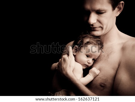 Fatherhood - stock photo