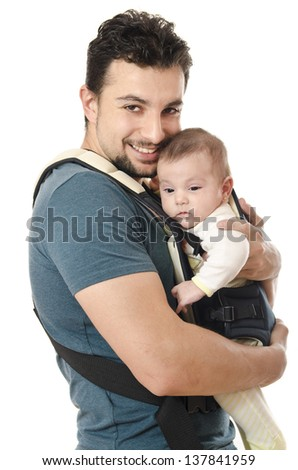 Fathers loves her daughter - stock photo