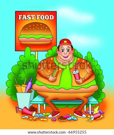 fatso - stock photo