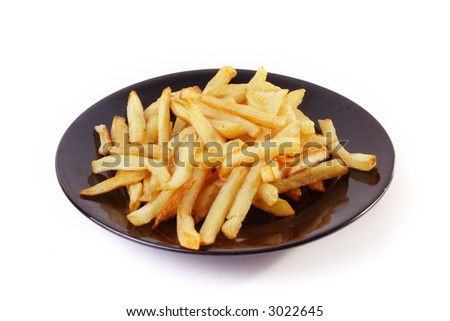 Fatty french fries - stock photo