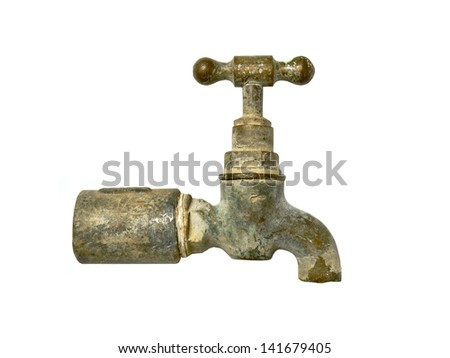 Faucet old source. - stock photo