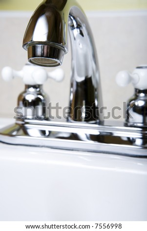 Faucet viewed on different angles.