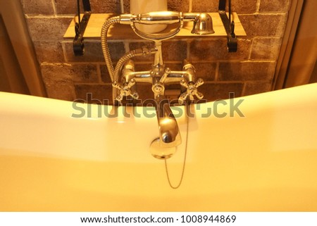 Faucets in the bath room