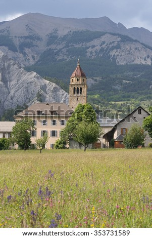 Faucon-de-Barcelonnette (Provence-Alpes-Cote-d'Azur, France), old village in the French Alps