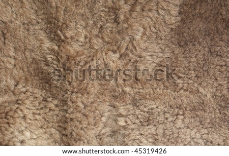 Faux fur background close-up - stock photo