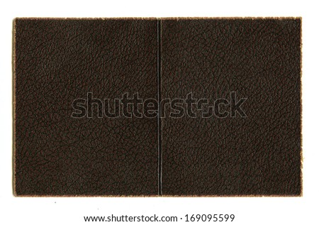 Faux Leather Background with Paper Fringed Edges - stock photo