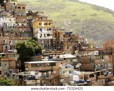 Favela in Rio de Janeiro, Brazil - stock photo