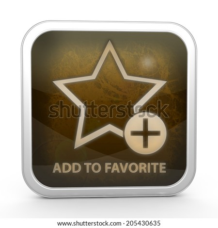 Favorite square icon on white background
