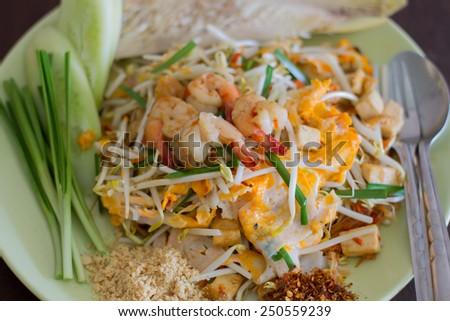 favorite thai food is name Pad Thai. - stock photo