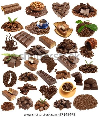 Favourite coffee and chocolate - stock photo