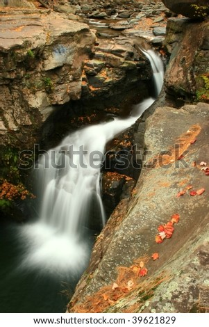 Fawn's Leap waterfall in the Catskills Mountains - New York