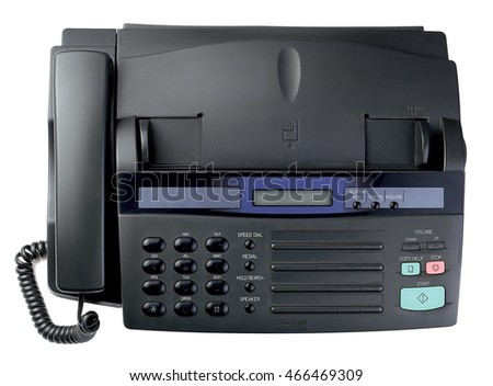 fax machine equipment object technology black paper business vintage copy office document telephone