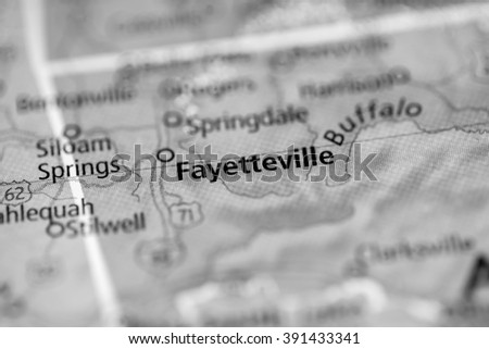 Fayetteville. Arkansas. USA - stock photo