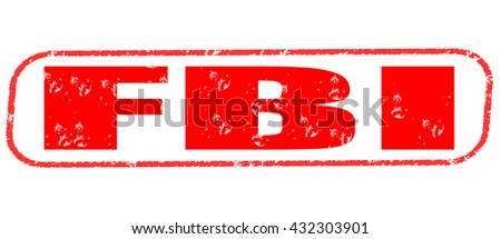 fbi stamp on white background. - stock photo