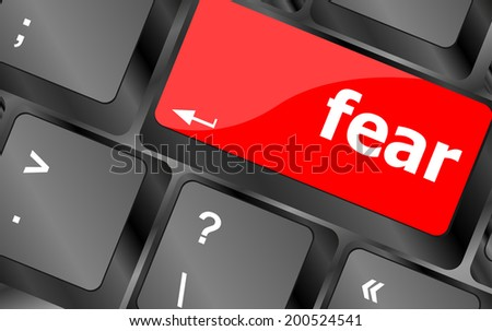 fear button on computer pc keyboard key