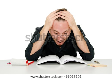 Fear of the study - stock photo