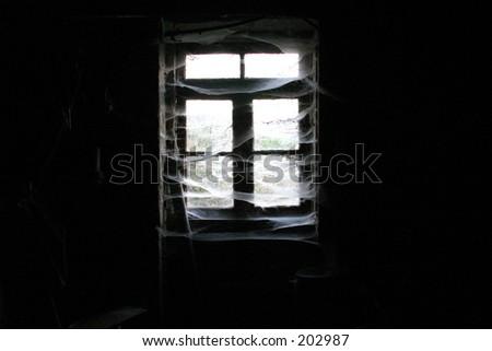 Fear window - stock photo