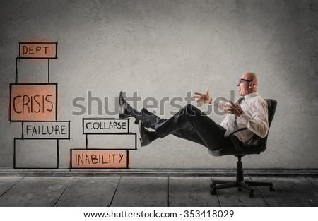 Fearing failure - stock photo