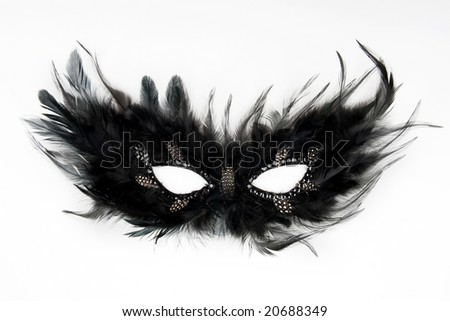 feather mask - stock photo