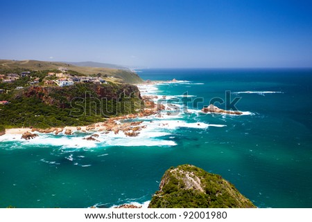 featherbed nature reserve in Knysna, South Africa - stock photo