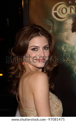 Feb 16, 2005: Los Angeles, CA: TV presenter MARIA MENOUNOS at the world premiere of Constantine, at the Grauman's Chinese Theatre, Hollywood.