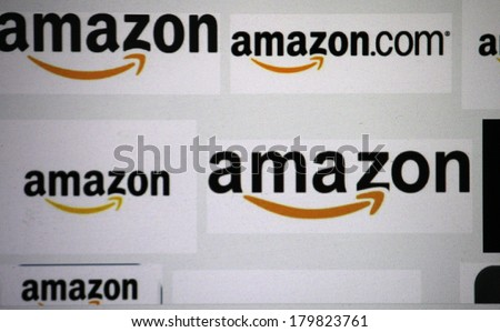 "FEBRUARY 27, 2014 - BERLIN: the logo of the brand ""Amazon"". - stock photo"