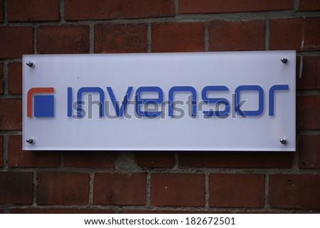"FEBRUARY 15, 2014 - BERLIN: the logo of the brand ""Invensor"", Berlin."