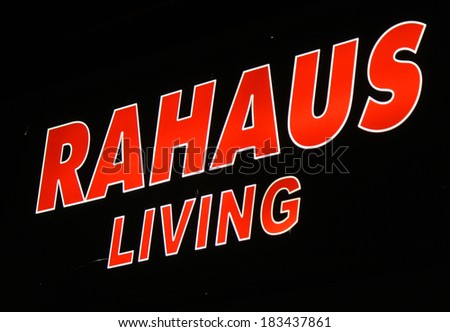 "FEBRUARY 15, 2014 - BERLIN: the logo of the brand ""Rahaus Living"", Berlin."