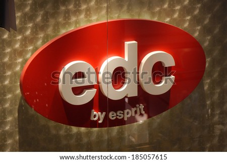 "FEBRUARY 26, 2014 - BERLIN: the logo of the brand ""rdc by esprit"", Berlin."