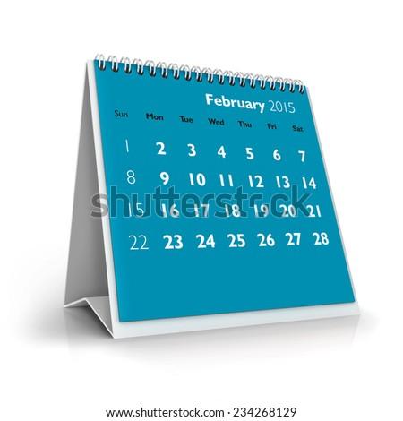 February 2015 Calendar - stock photo