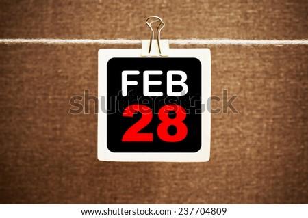 February 28 Calendar. Part of a set - stock photo