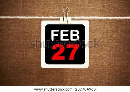 February 27 Calendar. Part of a set - stock photo