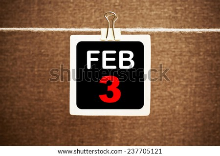 February 3 Calendar. Part of a set - stock photo