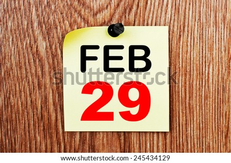 February 29 Calendar. Part of a set - stock photo