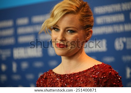 FEBRUARY 08: Elizabeth Banks attends the 'Love & Mercy' press conference during the 65th Berlinale Film Festival at Grand Hyatt Hotel on February 8, 2015 in Berlin, Germany - stock photo