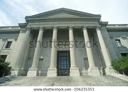 FEBRUARY 2005 - Exterior of Benjamin Franklin Institute, Philadelphia, PA - stock photo