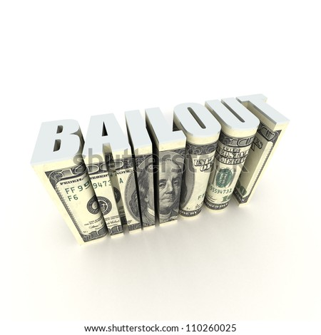 Federal Bailout - stock photo