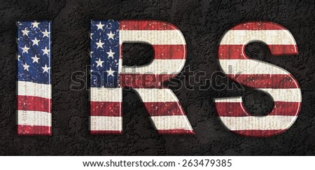 Federal income tax - internal revenue service, IRS - stock photo