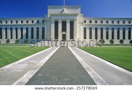 Federal Reserve Bank, Washington, DC - stock photo