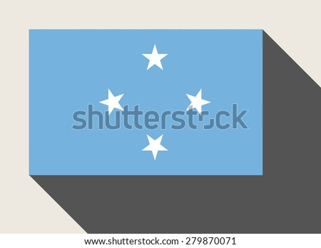 Federated States of Micronesia flag in flat web design style. - stock photo