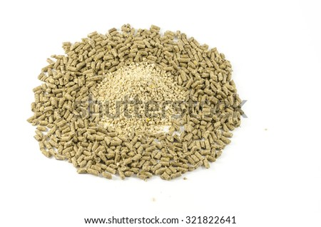 feed for animals on a white background - stock photo