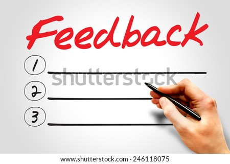 Feedback blank list, business concept  - stock photo